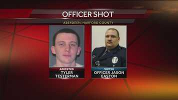 Police said they have apprehended a man who they said shot an officer in the face in Aberdeen early Friday morning.