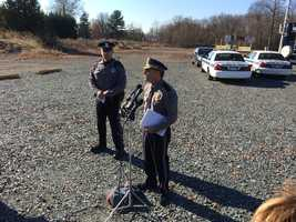 Aberdeen Police Chief Henry Trabert announces suspect capture during news conference Friday morning.