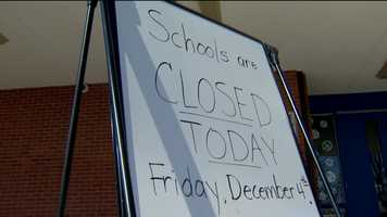 Harford County Public Schools said some schools in Aberdeen are closed Friday and will reopen Monday. Those schools include George Lisby at Hillsdale Elementary, Hall's Cross Roads Elementary, Bakerfield Elementary, Aberdeen Middle and Aberdeen High schools. Parents and administrators at the schools said it was the right call to close for the day, even though it was a great inconvenience for some.