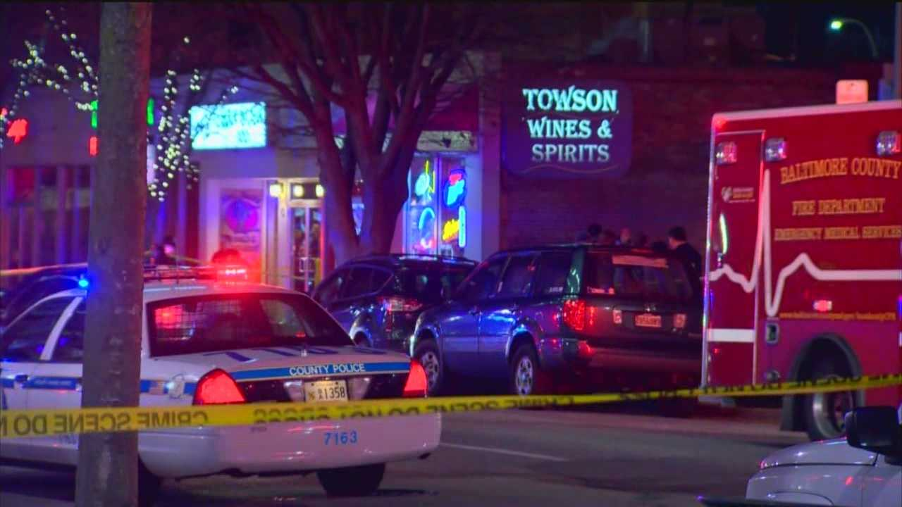 A liquor store clerk shoots and kills a robbery suspect that entered his store Monday evening in Towson, Baltimore County police said. Two people entered Towson Wine & Spirits in the unit block of Pennsylvania Avenue around 7 p.m.., police said. One of the robbers had a handgun and the 68-year-old clerk shot him multiple times. That robber was pronounced dead a short time later while another suspect got away.