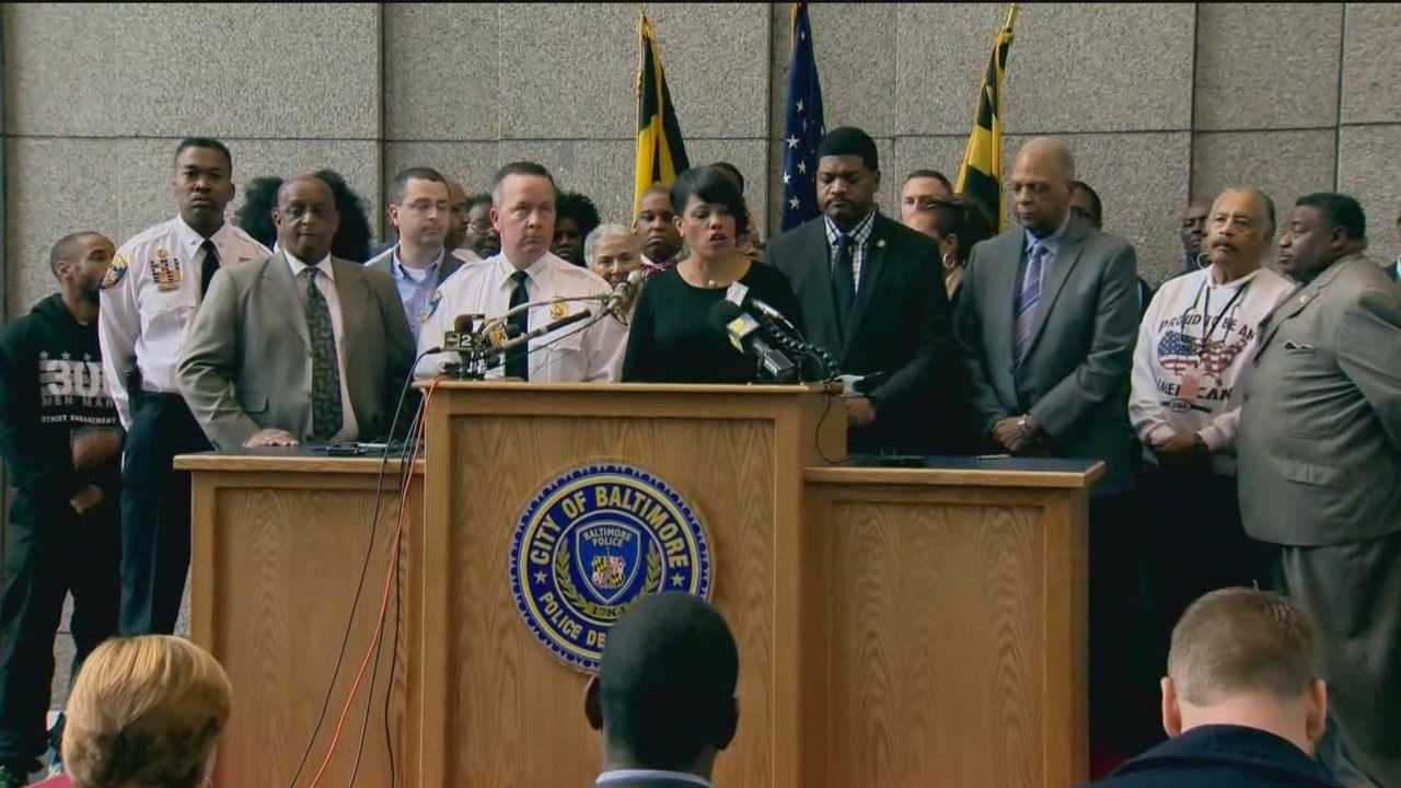 Baltimore leaders on Wednesday talked about how they will handle any protests during or after the trial of Officer William Porter and the trials of five other officers charged.
