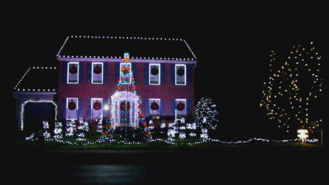 On Corinthian Court in Bel Air, the Kurtz family lights display gets a lot of attention. On most nights, they said they have anywhere from 100 to 200 cars drive by to check out the display. It's in honor of their 24-year-old daughter, Caronline, who's battling addiction to heroin