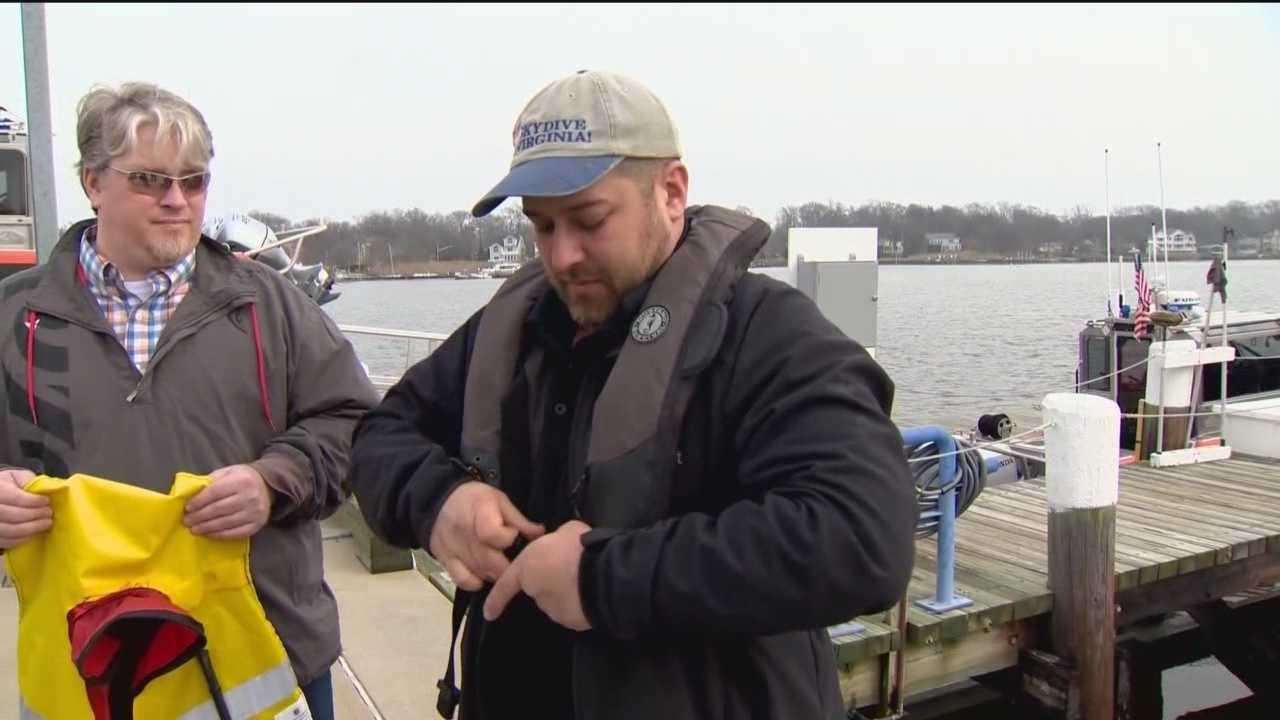Life jackets and a radio helped save two lives after a boat capsized on the Potomac River.