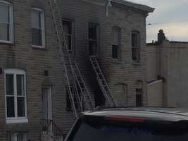 Crews are on the scene of a fatal fire in east Baltimore.
