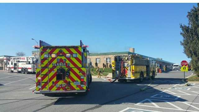 Students at Glenwood Middle School were evacuated after a fire broke out in the boiler room of the Howard County school.