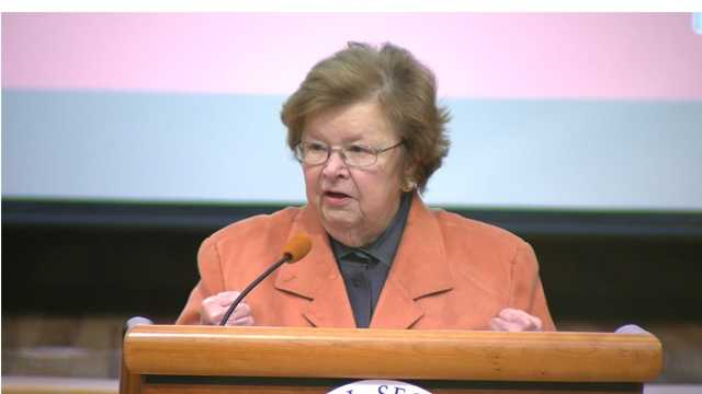 U.S. Sen. Barbara Mikulski announces $150 million in planned upgrades for the Social Security Administration headquarters in Woodlawn.