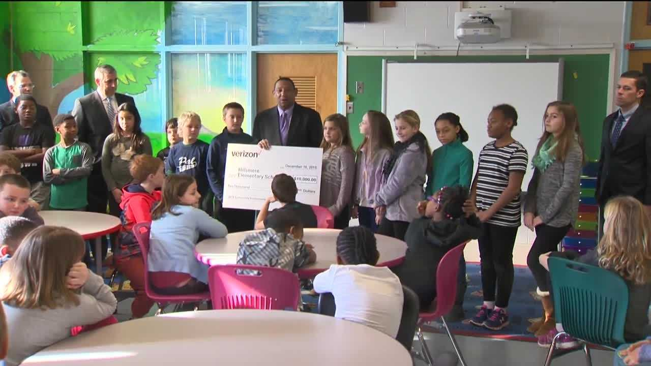 Verizon is donating $10,000 to an Anne Arundel County school to expand science, technology, engineering and math education. The donation to Hillsmere Elementary School in Annapolis comes at a time when local systems are looking for ways to make ends meet.