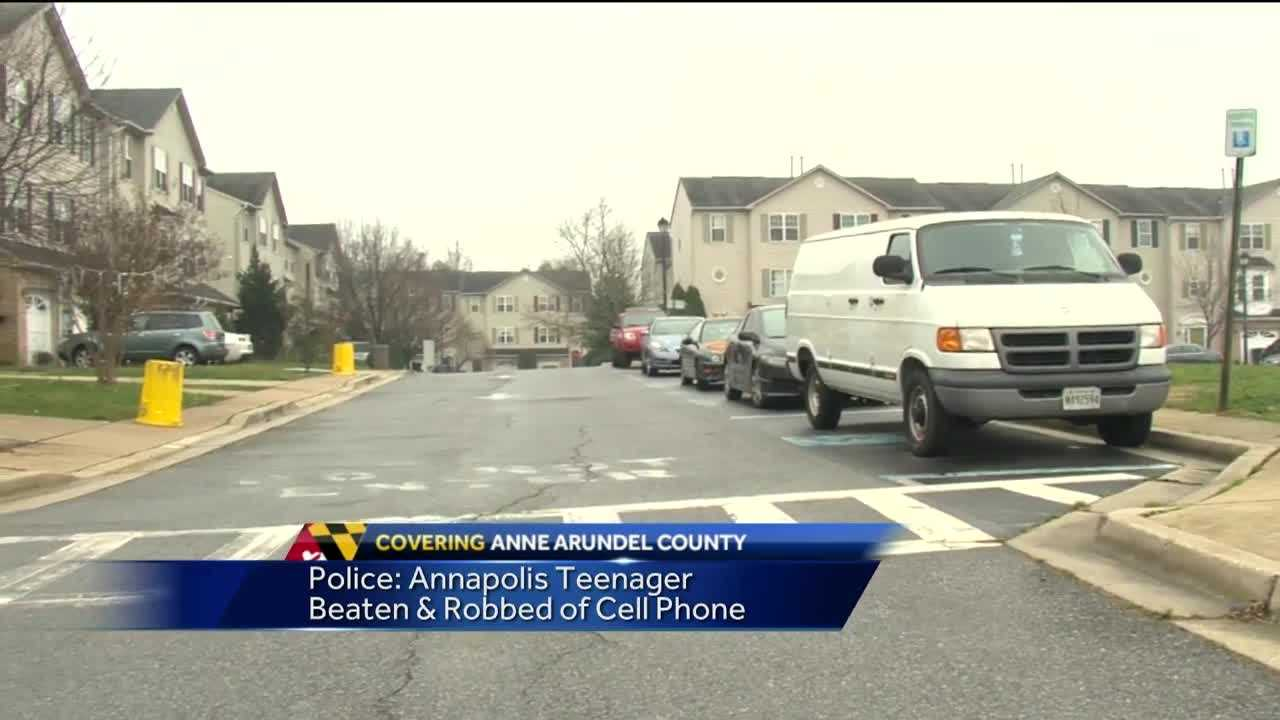 A teenager was beaten and robbed after he got off a school bus Thursday afternoon, Annapolis police said.