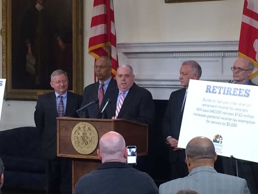 Jan. 12:Gov. Larry Hogan press conference on tax relief.