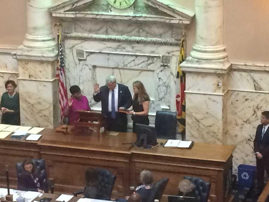 Jan. 13:Michael Busch sworn in as speaker.