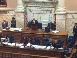 Jan. 13: Sen. Ben Cardin addresses House.