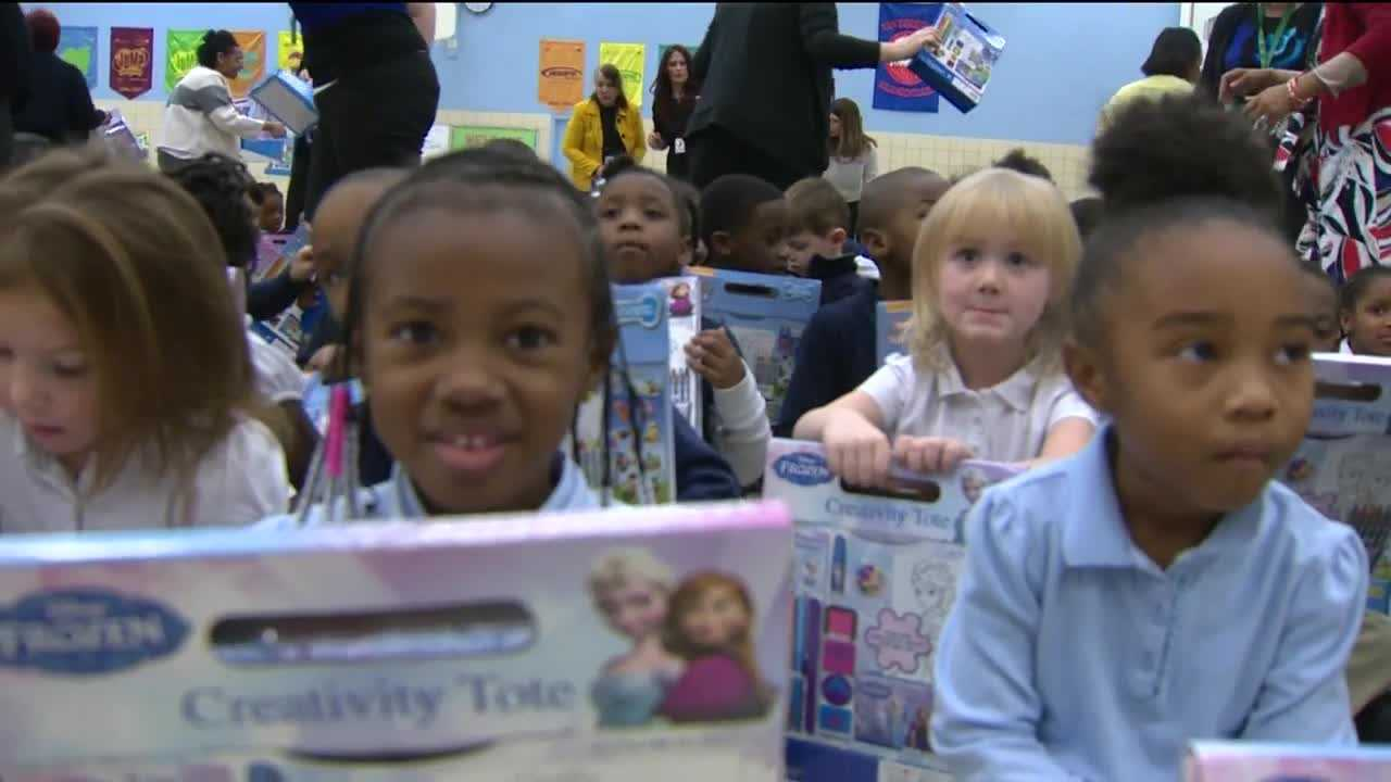 Unclaimed gifts from a Toys for Tots campaign are in the hands of thousands of Anne Arundel County students.
