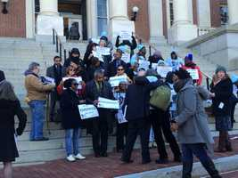 Jan. 14: Former felons rally in support of veto override of voting rights bill.