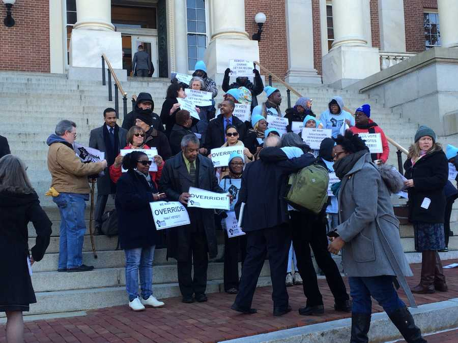 Jan. 14:Former felons rally in support of veto override of voting rights bill.