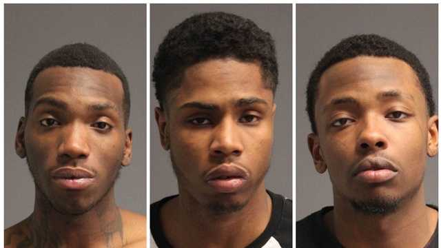 Devonte Brooks, 20, of Washington, D.C., Sammie Smith, 21, of Hyattsville, and Samuel Whitmire, 20, of Temple Hills were charged with theft over $1,000 and other related charges connected to the theft Sunday at the Game Stop store in Severna Park, police said.