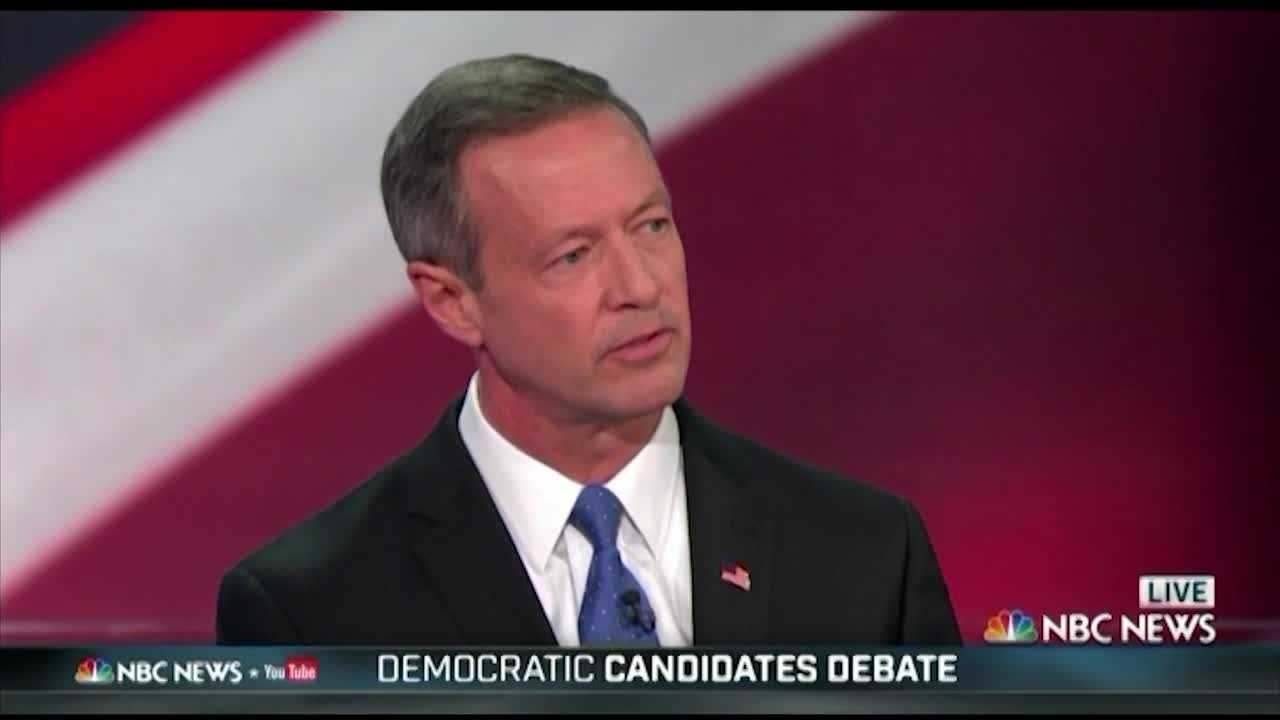 "Former Maryland Gov. Martin O'Malley defended his record as mayor of Baltimore during Sunday night's Democratic presidential debate. O'Malley had to fight to even get on the stage because he's polling so poorly behind Hillary Clinton and Bernie Sanders, and when he did get the attention of moderators Lester Holt and Andrea Mitchell, one question turned to the ""zero tolerance\"" police policies he advocated as mayor."