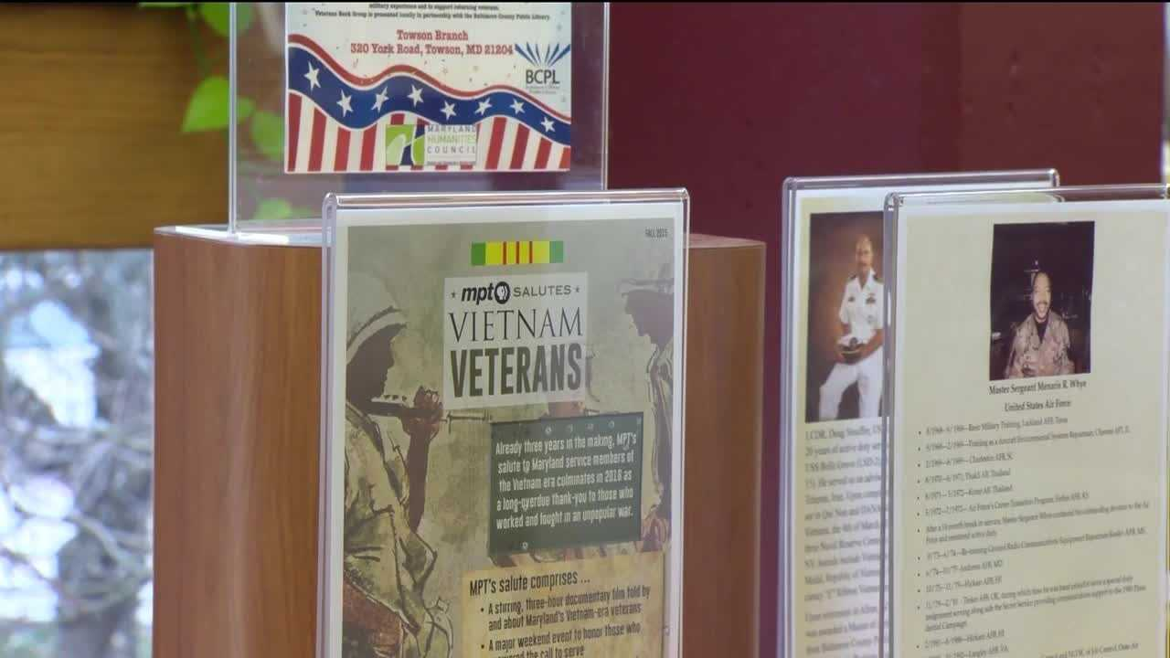 War stories can be found in countless books at any community library. But at the Baltimore County library in Towson, you can experience those stories in a different way: directly through the men and women who served.