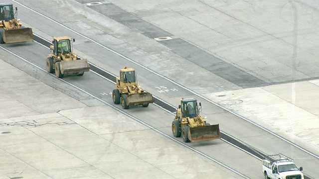 The plow crews at Baltimore-Washington International Thurgood Marshall Airport are ready for the storm.