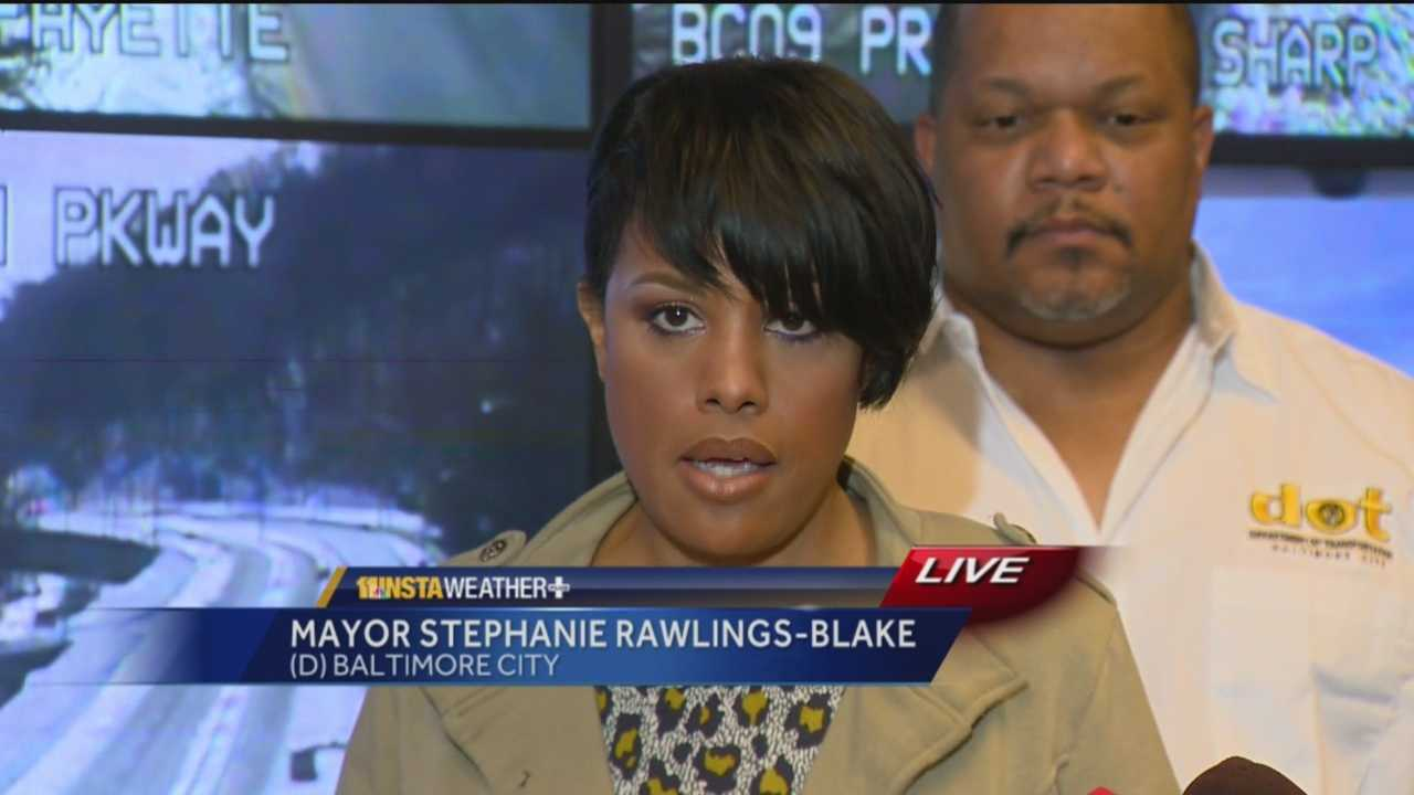 Baltimore Mayor Stephanie Rawlings-Blake is urging that resident show patience as the city continues to clear roads after this past weekend's record snowstorm.