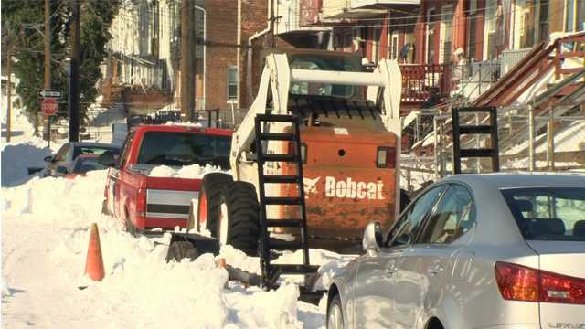 'Bobcat Dave' helped residents in one northeast Baltimore community plow the roads in their neighborhood.