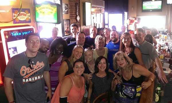 "This picture was taken June 2014 at Mahaffey's Pub where Amber Schinault worked.""(It was) the first Remembering Amber event we held. All money raised went to the House of Ruth, Maryland in her honor,"" Boswell said."