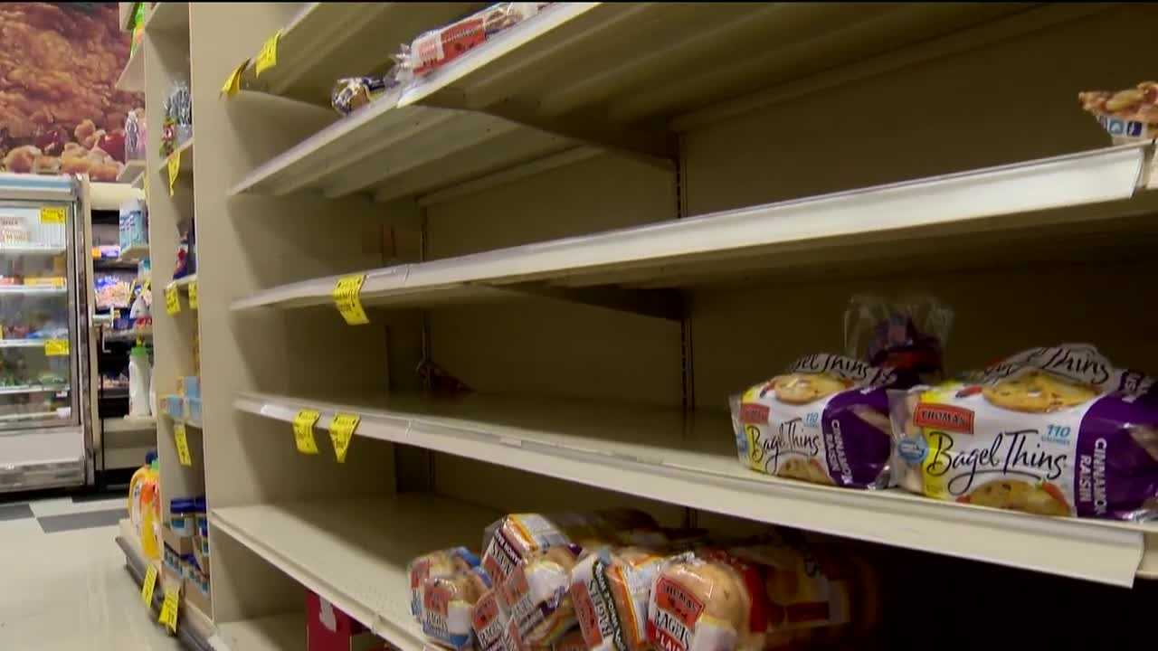 Retailers throughout Maryland are waiting on deliveries stuck in the snow after this weekend's historic storm.