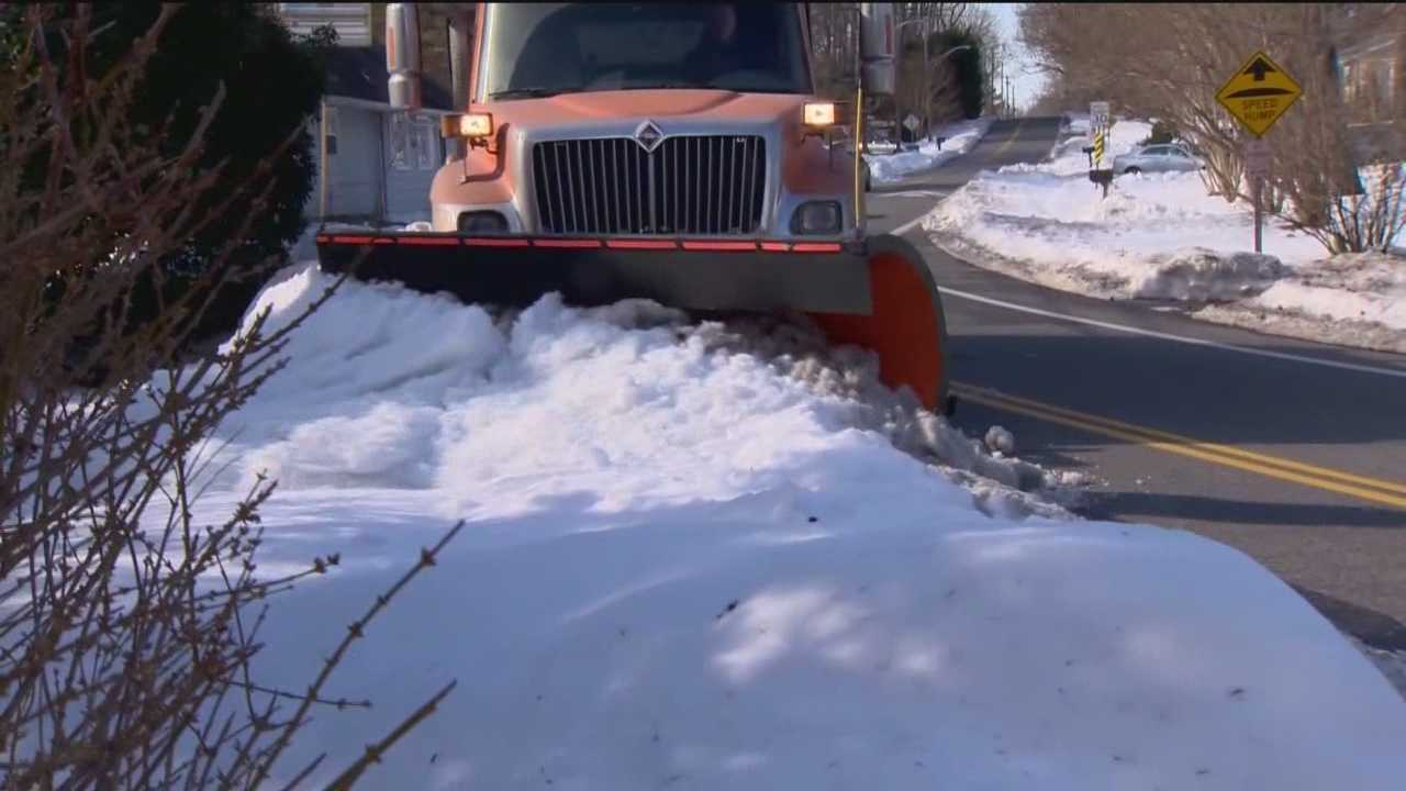 The cleanup from last weekend's record snowfall is far from over for all the snowplow drivers across Maryland who have been working 12-hour shifts since Friday. The storm has proved to be quite a challenge. Urban said he has never seen a storm like this. Once the snow stopped, the sheer amount of it made it difficult to push out of the roads. Four days after the storm, Anne Arundel County expects to have streets plowed out by midnight Wednesday. Officials said it's all thanks to drivers.
