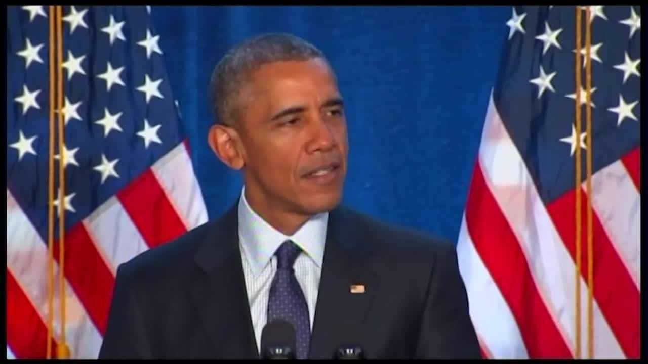 President Barack Obama promised congressional Democrats their party will win in November. It's a promise he made in Baltimore. Baltimore hosted the president and the vice president for what amounts to an annual Democratic Party pep talk and Biden had the quote of the day when he said Republicans are a gift for Democrats.