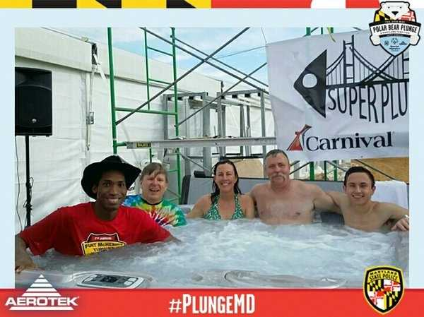 11 News' Jennifer Franciotti is among the Super Plungers, those who will plunge 24 times into the Chesapeake Bay as part of the Polar Bear Plunge.
