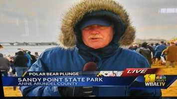 Recently retired 11 News reporter Rob Roblin returned to the air to assist with coverage of the 20th annual Polar Bear Plunge.