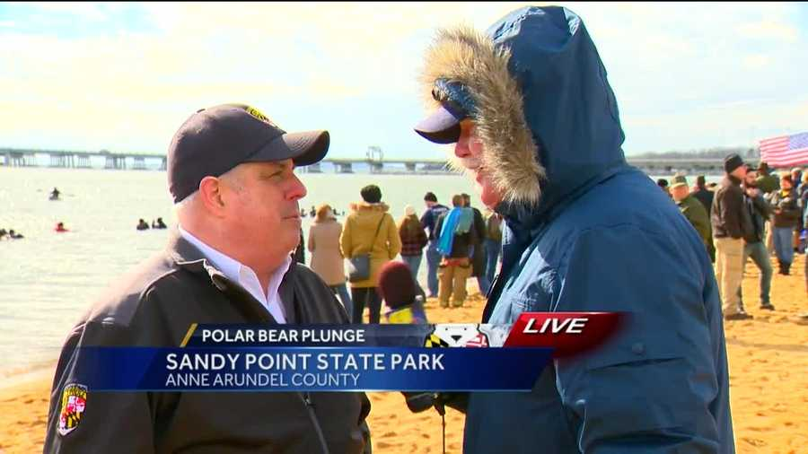 Gov. Larry Hogan talks about the 20th annual Polar Bear Plunge with 11 News' Rob Roblin.