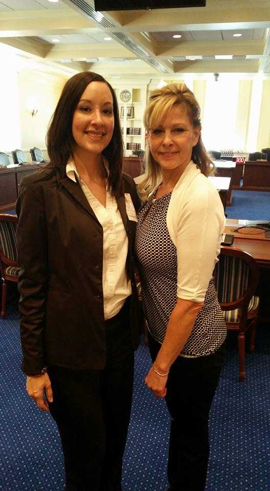 Jaime Boswell (left) and Andrea Prieto (right) testified before the Maryland House Judiciary Committee for HB 4, better known as Amber's Bill, which would require high-risk domestic violence offenders to be actively monitored via a GPS device.