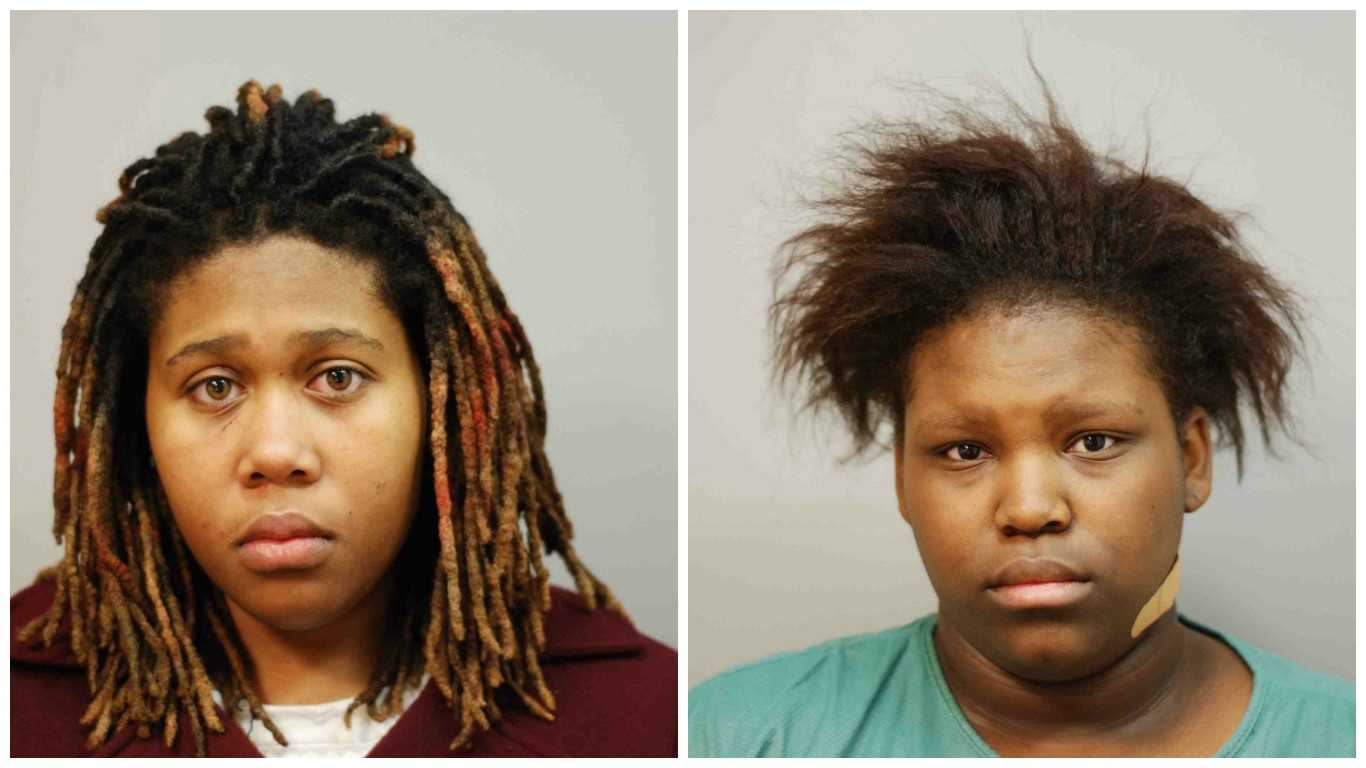 Ariel Anderson, 16, and Zykia Mitchell, 17, were charged as adults after being involved in a knife fight in Annapolis, police said.