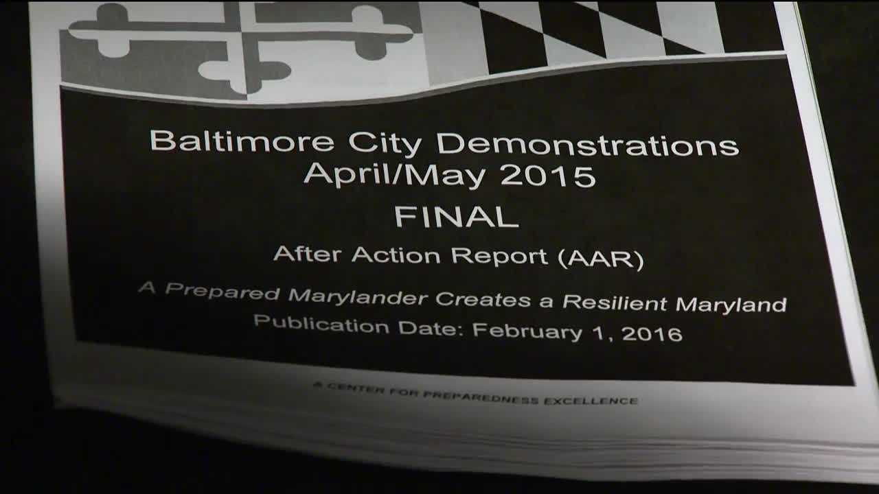 The Maryland Emergency Management Agency released a new report today detailing how the state responded to the riots last spring in Baltimore City.The report includes both strengths and weaknesses of the state's response and how the agency felt it performed. Officials said the information was gathered through interviews with state emergency response staff.
