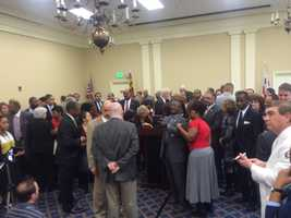 Feb. 3:State House Democrats hold pre State of State speech news conference.