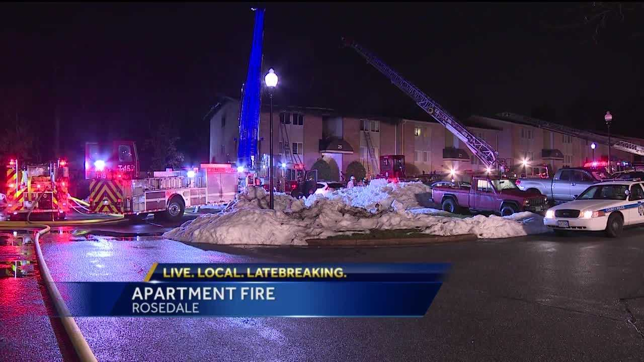 Twenty people were displaced after an apartment fire Wednesday at the Eagles Walk apartment complex in Rosedale.
