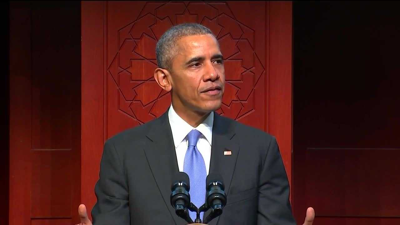 President Barack Obama visited a Baltimore County mosque Wednesday in an effort to help combat political marginalization of Muslims in America and Islamophobia. Obama visited the Islamic Society of Baltimore in Windsor Mill. It was his first presidential visit to an American mosque.