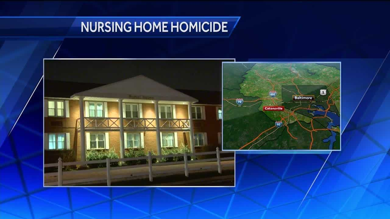 Baltimore County police are conducting an investigation at a Catonsville nursing home after a death that resulked from an assault involving two patients.