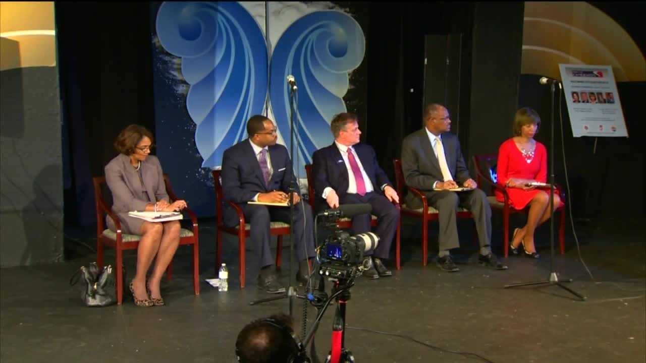 Five of the top candidates in the Baltimore mayor's race debated everything from crime and education to the best ways to help revitalize the city.