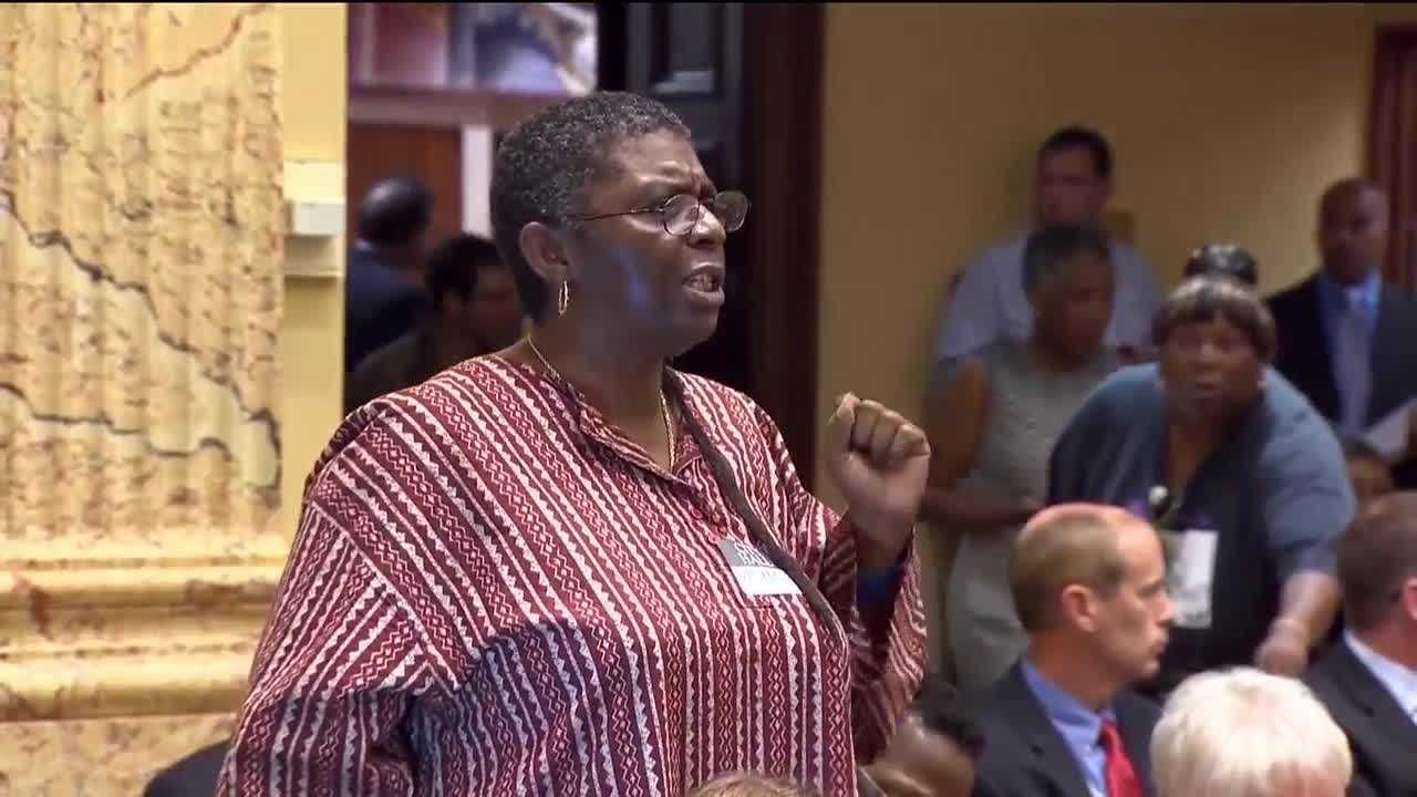 The man who runs the show at Baltimore City Council meetings is facing some competition for the job. Jack Young has been City Council president for seven years, but on Monday, an outspoken voice at council meetings is putting her name in the race.