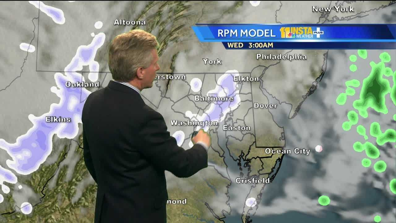 Chief Meteorologist Tom Tasselmyer shows how there could be residual snow showers and icy spots overnight after Tuesday's snowstorm.