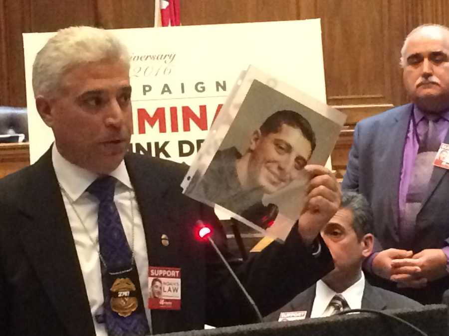 Feb. 10:Rich Leotta is urging lawmakers to pass legislation, otherwise known as Noah's Law, requiring first time DUI offenders to use an ignition interlock device.
