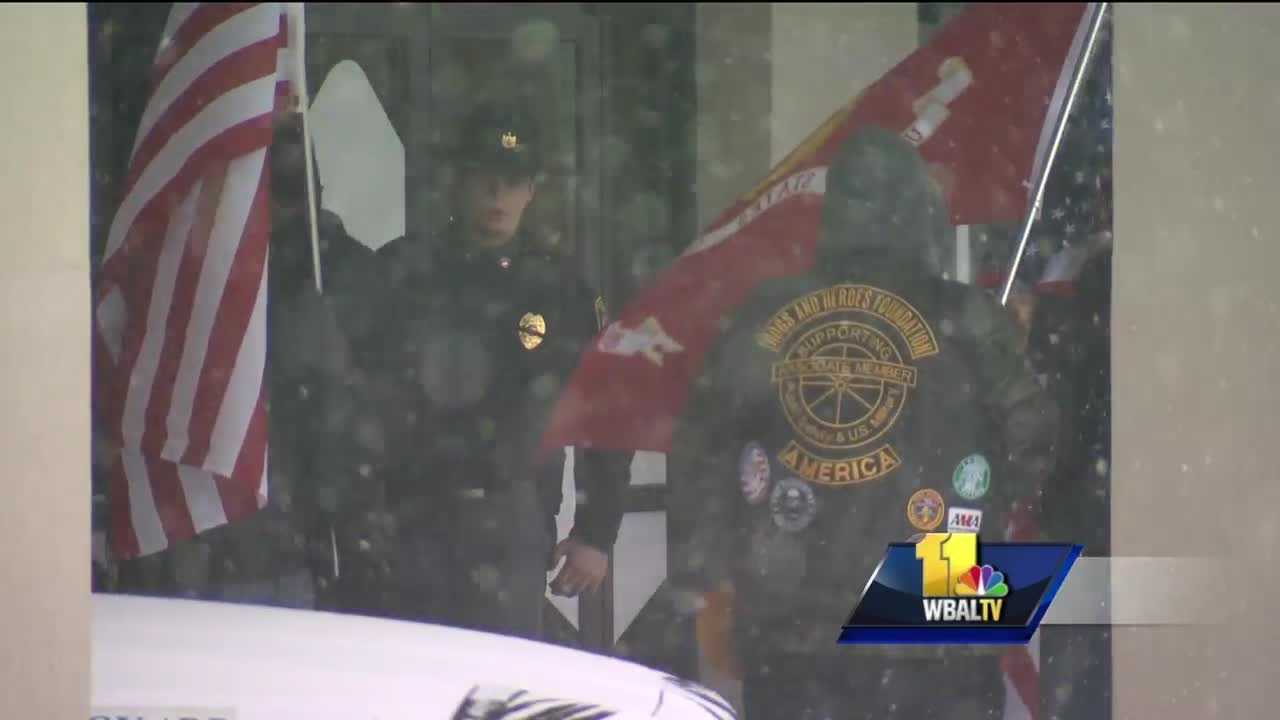 The first of two viewings was held Monday at Mountain Christian Church for Harford County sheriff's Deputy Patrick Dailey. Dailey, along with Deputy Mark Logsdon were shot and killed last Wednesday by David Evans, the sheriff's office said.