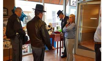 Harford County Sheriff Jeffrey Gahler visits the Abingdon Panera Bread six days after the first of two deputies were shot and killed there.