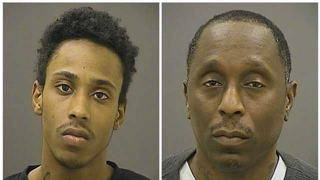 Cameron Wilkerson, 20, and his father Joseph, 49, were arrested and charged with the attempted robbery on a man in Baltimore, city police said.