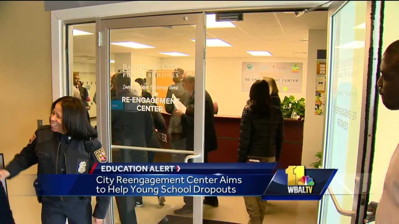 There's a new center in Baltimore aimed at helping high school students who have dropped out. The goal of the Re-engagement Center is to get the students back in class. It's a classroom setting located on the first floor of the city school headquarters building on North Avenue. Educators welcome students who have either dropped out of school or find themselves at risk of quitting before graduation.