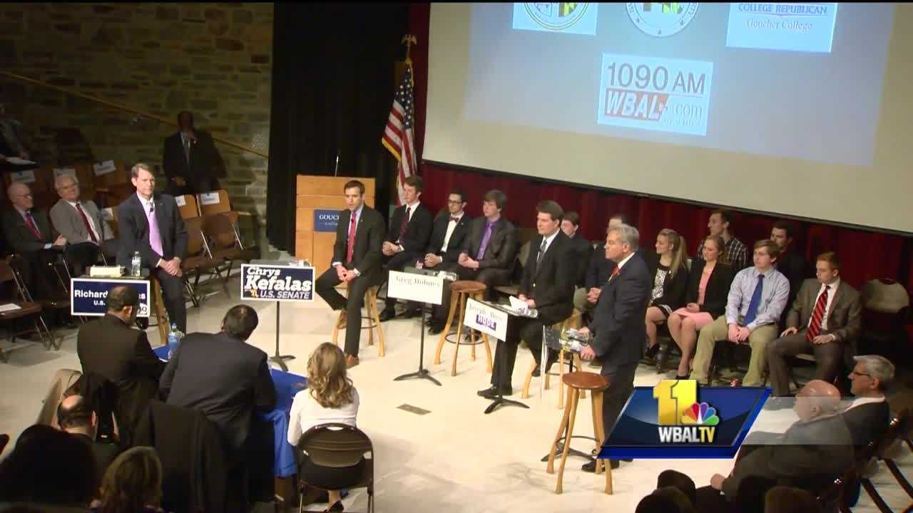 After Gov. Larry Hogan's win in the last gubernatorial election, Republicans have hope that success will translate to victory in the race for the U.S. Senate in Maryland. Some of the candidates running for Sen. Barbara Mikulski's soon-to-be vacant seat met for a debate Thursday at Goucher College to share their views on key issues.