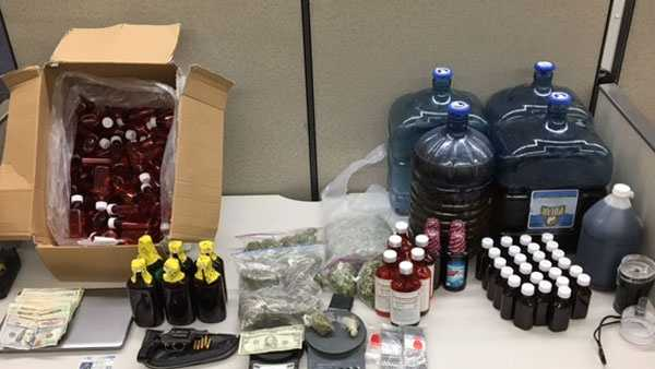 "Detectives seized ""dirty Sprite, sour diesel"" and arrested one man in connection with a drug bust, city police said."