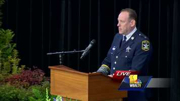 Harford County Sheriff Jeff Gahler remembers Deputy First Class Mark Logsdon.