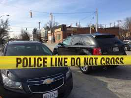 A pair of elderly siblings were injured in a double shooting outside a shopping center in Baltimore on Monday, police said.